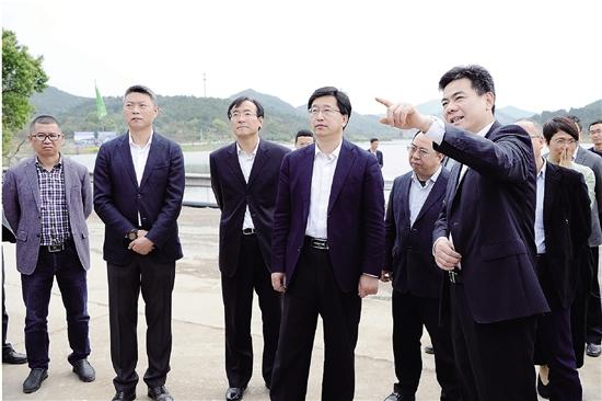 陈金彪考察虞东河湖综合整治工程